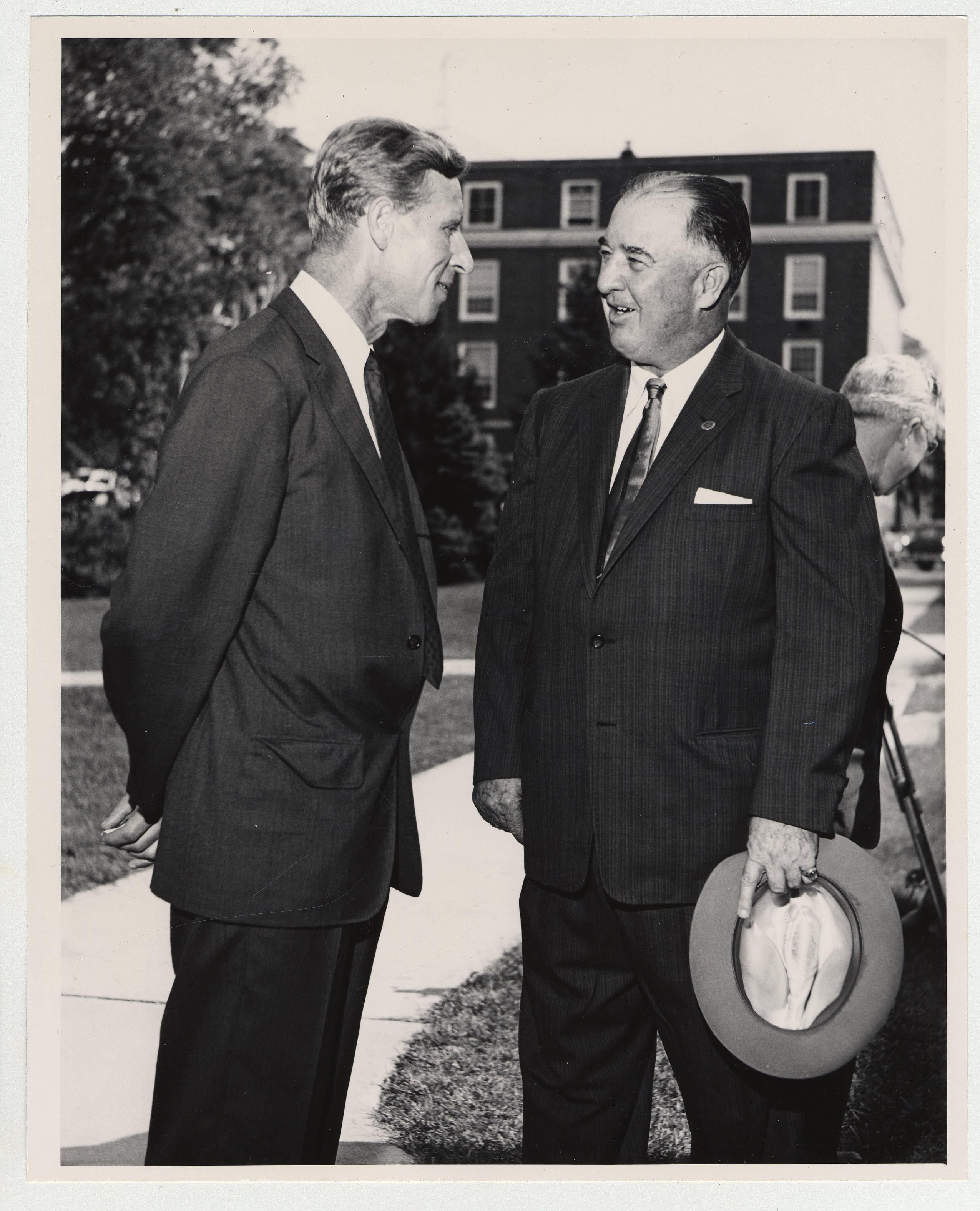 Former Governor A B Happy Chandler Talk With An Unidentified Man