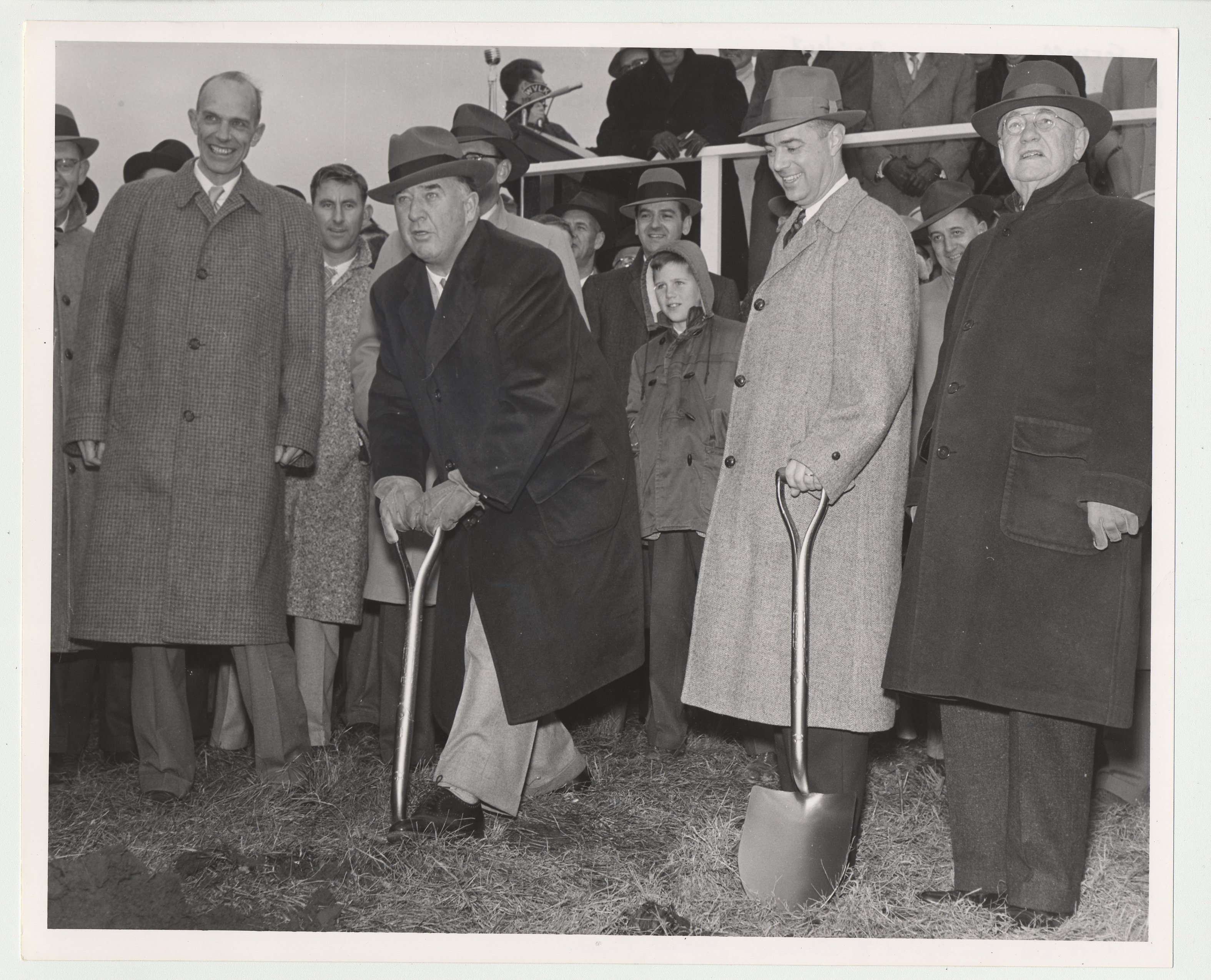 The Initial Ground Breaking Ceremony For Medical Center Former