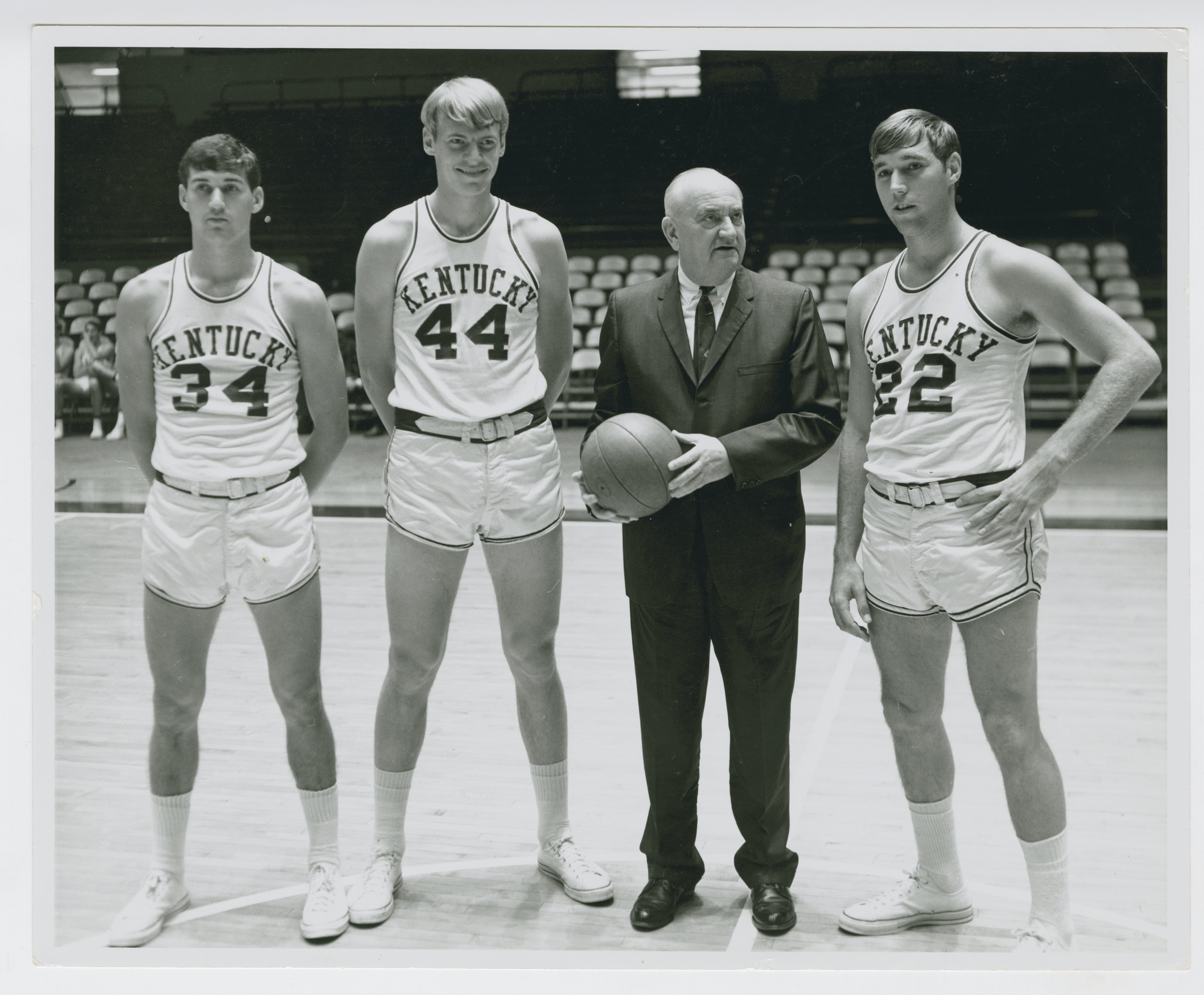 Mike Casey Dan Issel Adolph Rupp and Mike Pratt Kentucky