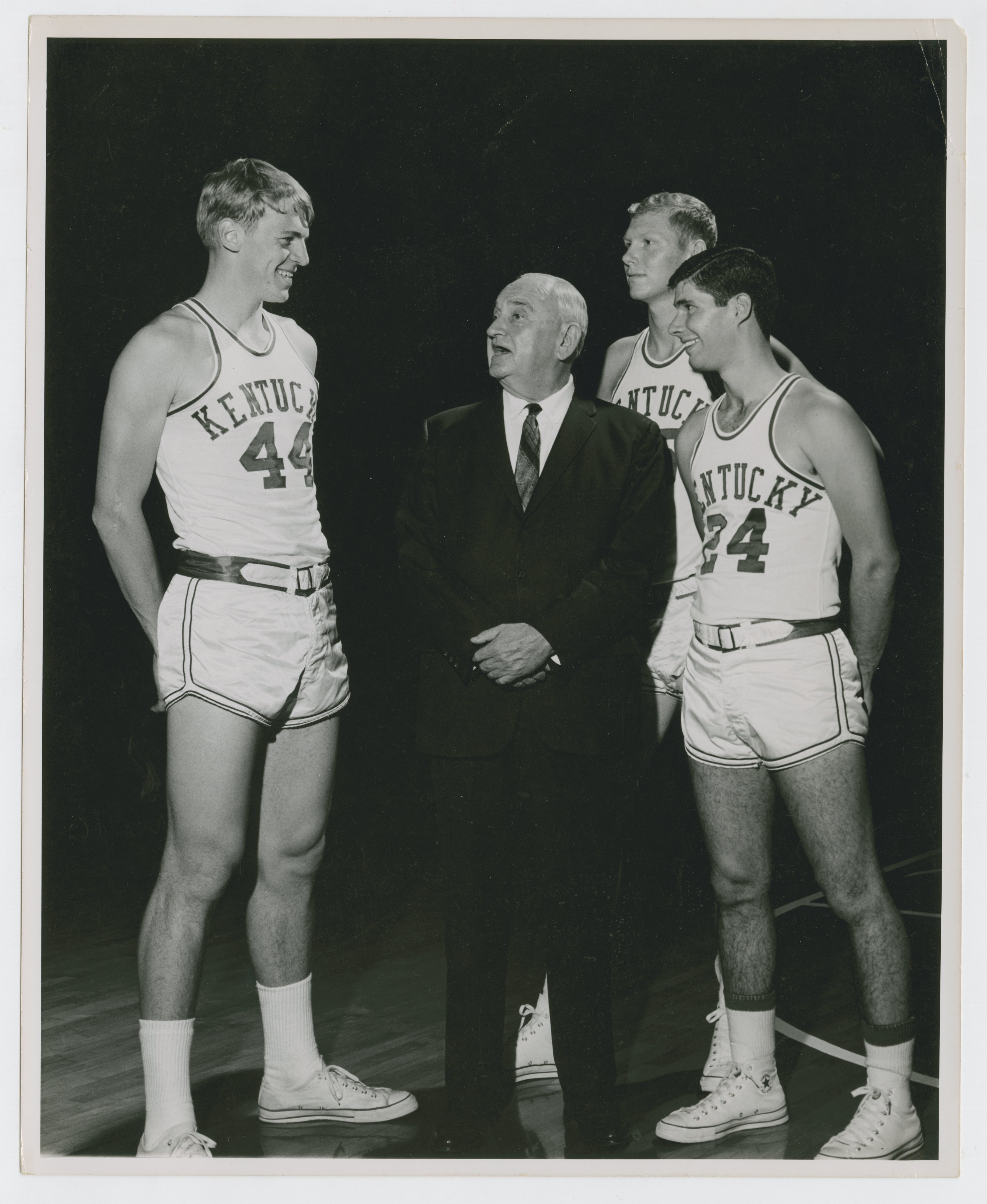 Adolph Rupp Dan Issel Cliff Berger and Greg Starrick Kentucky