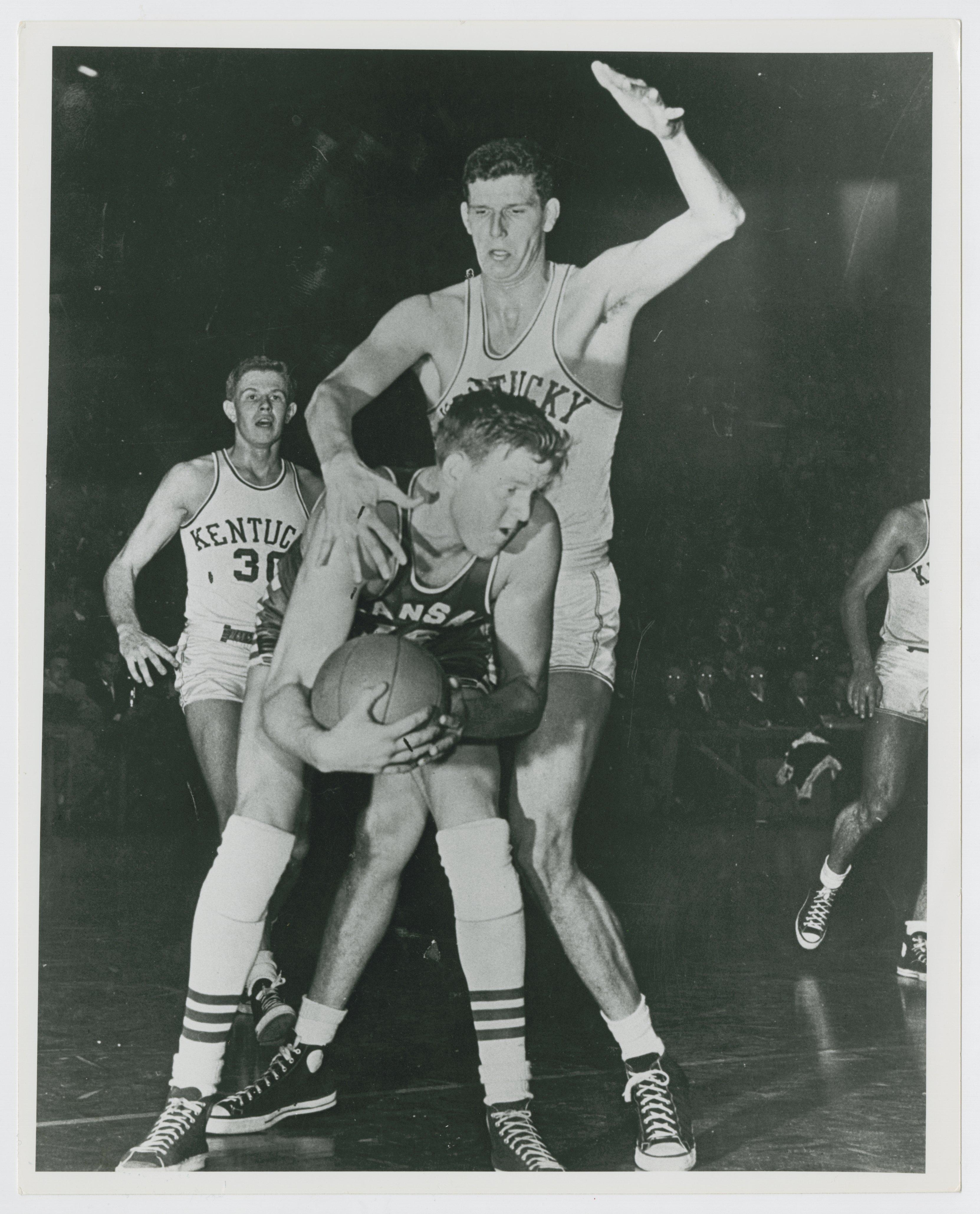 UK vs Kansas State Frank Ramsey Clyde Lovellette Kansas and