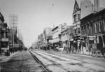 Main Street Lexington - Note on slide: Phoenix Hotel on left. Art works of the Bluegrass 1898