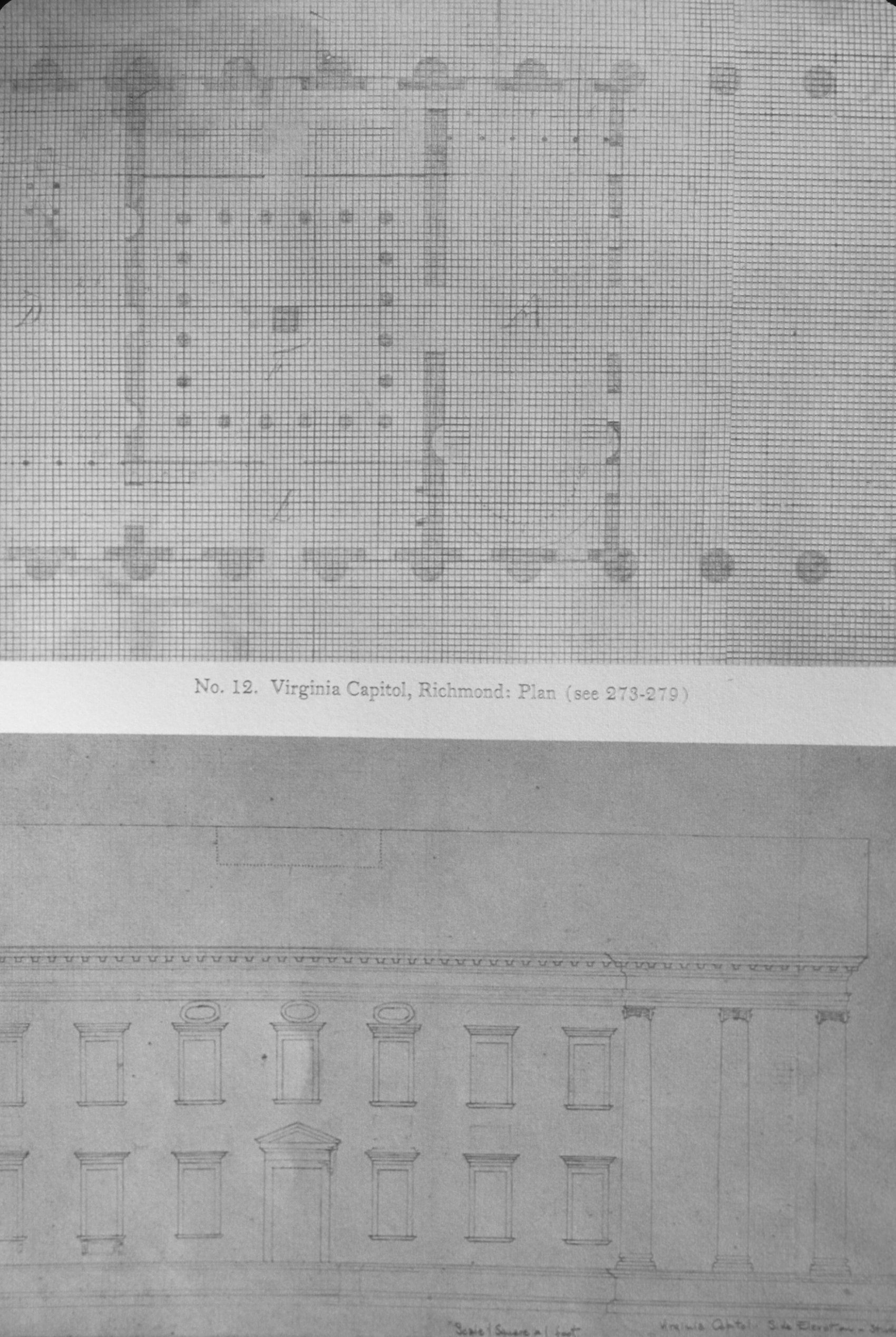 Virginia Capitol - Note on slide: Plan, elevation  Thomas