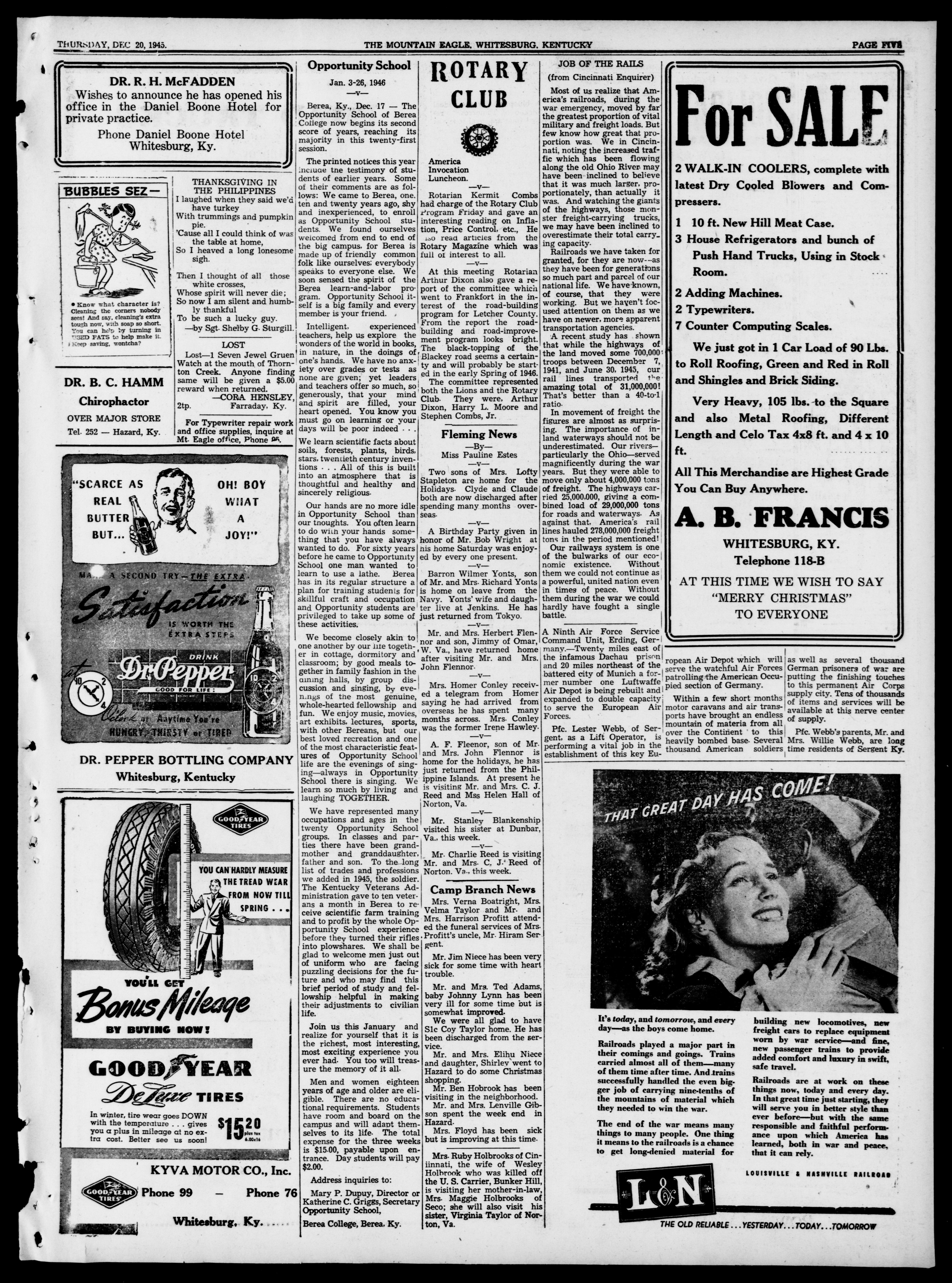 Image 5 of Mountain eagle (Whitesburg, Ky ), December 20, 1945