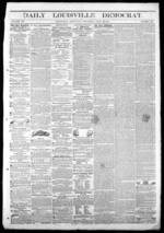 Image 1 of Daily Louisville Democrat, June 12, 1856 - Kentucky