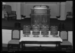 Broadway Christian Church, Interior, Lectern and communion table